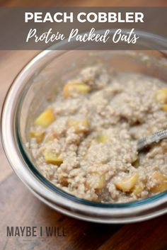 Fuel your body right, after a workout with this delicious and creamy peach protein oatmeal! It is the perfect blend of carbohydrates and protein! #ad