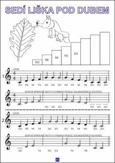 Hudební poznání Piano, Sheet Music, Printables, Music Ed, Joy, Musicals, Print Templates, Pianos, Music Sheets