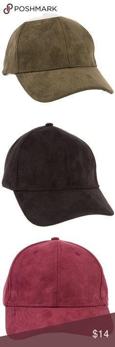 🆕Faux Suede Baseball Cap Faux Suede Baseball Cap 100% Polyester CA Lead and Nickel Compliant Product Adult Only   🔺Firm price🔺 Accessories Hats