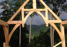 Cabin Creek Timber Frames is made up of a team of experienced professionals in Franklin, North Carolina who know their craft and are passionate about their craft. You can see this dedication illustrated in our Timber Frame construction portfolio below. Metal Roof Houses, House Roof, Timber Frames, Garden Bridge, Exterior, Outdoor Structures, Gallery, Houses, Wood Frames