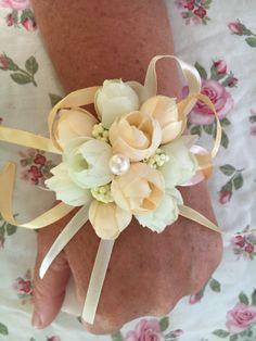 Silk flower wrist corsage