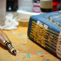 repurpose an old book with long stitch binding
