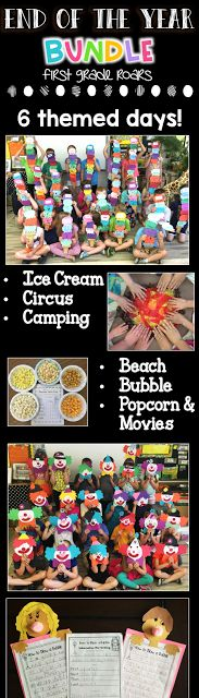 """End of the Year Activities BUNDLED Theme Days for Primary Teachers Themed Days """"End of the Year"""" Fun! – First Grade Roars! End Of Year Party, End Of School Year, School Holidays, School Fun, School Stuff, Summer School, End Of Year Activities, Kindergarten Activities, Classroom Activities"""