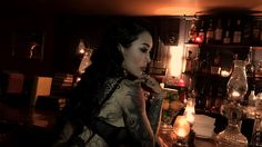 Shooting with lady tattooer Alisha Gory at the Bookstore Speakeasy