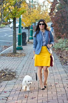 also kind of preppy ... and so cute. Professionally chic !