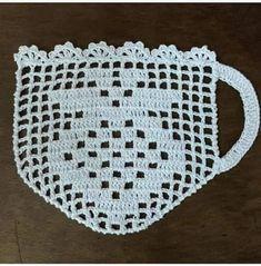 Crochet Edging Patterns, Crochet Squares, Crochet Motif, Crochet Doilies, Crochet Flowers, Knitting Patterns, Crochet Diy, Crochet Home, Thread Crochet