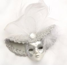 Miniature Venetian Mask Ornaments