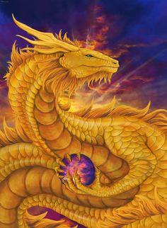Золотой дракон или Дракон Рассвета - второе обличье Ури Рейсса, Скорбящего монаха и Мудреца Драконлэнда.