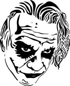Joker Drawings, Cool Art Drawings, Pencil Drawings, Art Sketches, Le Joker Batman, Batman Art, Joker And Harley, Stencil Art, Joker Stencil