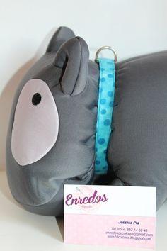Collar de clic para perros talla S/XS. 16mm de ancho. Se pueden realizar correas, bolsitas, arneses, etc. a juego. http://es.dawanda.com/shop/enredosdecolores