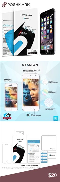 📱Electronics- iPhone 6/6s screen protector (3pk) 3 pack. Ultra High Definition film ensures crystal clear resolution. Stands up against dust, scratches, and fingerprints to reduce the signs of daily wear. Stalion offers a hassle free Lifetime Warranty with their iPhone 6/6s Screen Protectors! apple Accessories Phone Cases