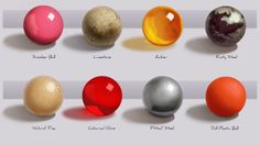 Texture Spheres Practise by ~Nicksketch on deviantART