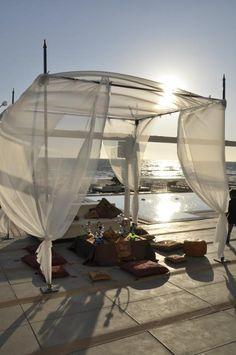 Baldacchino per cerimonia matrimonio in spiaggia