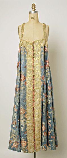 Dress Date: 19th century Culture: Russian Medium: silk, metallic thread, brass