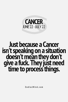 We try to not speak when angry because 9 times out of 10, we may come out of character and scare everyone in the room! #cancerian