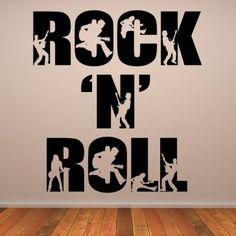 bathta Vinyl Removable Wall Stickers Mural Decal Simple Man Lyrics in Guitar
