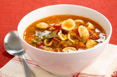 Orecchiette and tomato soup