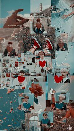 Stray Kids Seungmin, Felix Stray Kids, Band Wallpapers, Cute Wallpapers, Kids Wallpaper, Iphone Wallpaper, Kpop, Fanart, Kids Board