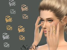 The Sims Resource: Winged double ring by NataliS • Sims 4 Downloads