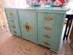 Newly Lacquered Key West Blue PAGODA Cabinet in nice as found VINTAGE condition. There are imperfections to the newly lacquered finish (Key West Blue) and some scuffs and dings to the original wood cabinet. Geometric Furniture, Chinoiserie Decorating, Painting Furniture Diy, Painted Furniture, Cabinet, Furniture Rehab, Furniture Inspiration, Dipped Furniture, Home Decor Furniture