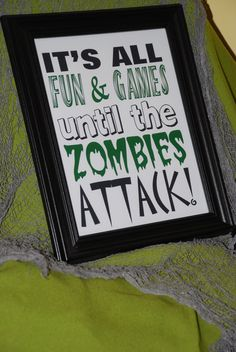 ZomBie AttAck Digital Download Halloween 8x10 printable
