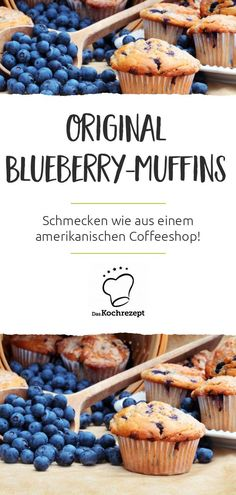 Original American Blueberry muffins are simply unmistakable! The buttermilk in the batter makes it so soft and fluffy. The fresh blueberries provide the fruity and delicious taste. Healthy Blueberry Muffins, Blue Berry Muffins, Breakfast Muffins, Breakfast Recipes, Sandwich Vegan, Muffins Sains, Nutella Muffin, Streusel Muffins, Simple Muffin Recipe
