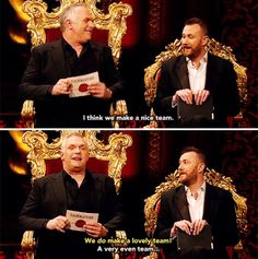 A very even team British Humour, British Comedy, Comedy Movies, Films, Greg Davies, British People, Hilarious, Funny, Movies And Tv Shows
