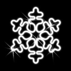 Vianočná snehová vločka - 500mm - závesná - OVL 09-L Neon Signs