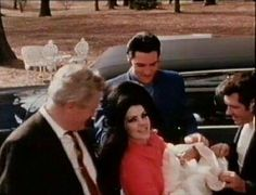 Lisa Marie comes home to Graceland - Vernon & Charlie Hodge with Elvis, Priscilla & Lisa Marie - February 1968
