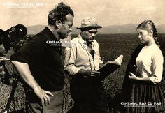 """Ovidiu Gologan, Liviu Ciulei și Ana Szeles pe platoul de filmare la """"Pădurea spânzuraților"""" Aur, Legends, Cinema, Actors, Movies, Movie Theater, Actor"""