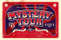 Mystery Tour Display Font by Vintage Type Co. on @creativemarket