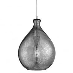 MERCURY decorative smokey glass ceiling pendant