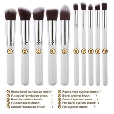 This is a professional quality brush set that includes all the basics you need…