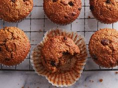 Get out your muffin tins and start baking. From streusel-topped blueberry to zucchini-chocolate, these easy muffin recipes don& disappoint. Healthy Snacks For Diabetics, Healthy Muffins, Raisin Bran Muffins, Savoury Biscuits, Simple Muffin Recipe, Breakfast Food List, Breakfast Muffins, Muffin Recipes, Loaf Recipes