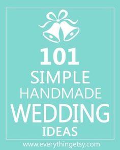 101 Handmade Wedding Ideas - DIY