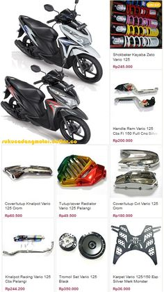 Aksesoris Honda Vario 125 PGM-Fi Golf Bags, Cnc, Honda, Racing, Motorcycle, Bike, Helmet, Wheels, Decor
