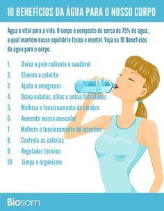 Clique na imagem para ver os 10 benefícios incríveis da água para saúde #água…
