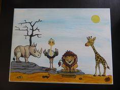 SAFARI Spielzeugkiste aus Holz von Piddys Workshop auf DaWanda.com