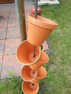 Décorations originales avec les pots en terre cuite! Voici 20 idées pour vous inspirer…