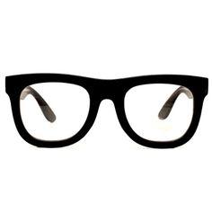 Thick Bold Vintage Wayfarer Retro Clear Sunglasses Eyegla...