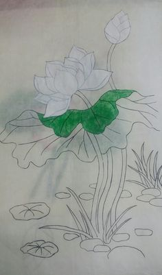 You're Gonna Need a Pencil - Drawing On Demand Lotus Painting, Watercolor Painting Techniques, Fabric Painting, Watercolor Paintings, Korean Painting, Chinese Painting, Flower Drawing Tutorials, Fabric Paint Designs, Lotus Art