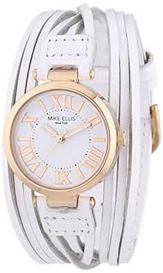 Mike Ellis New York Damen-Armbanduhr XS Brazil Analog Quarz Leder L3185D - http://uhr.haus/mike-ellis-new-york/mike-ellis-new-york-damen-armbanduhr-xs-brazil-3