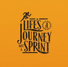 Life's a Journey not a Sprint✨ . From a great type work by @theaboardude __ ✔Featured by @thedailytype #thedailytype ✒Learning stuffs via: www.learntype.today __