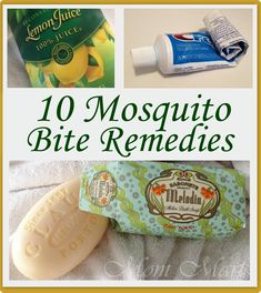 10 Mosquito Bite Remedies. There are so many Mosquitos here:(