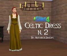 TS4: Celtic Dress Number 2 - History Lover's Sims Blog