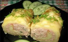 Pancakes, baked with chicken meat
