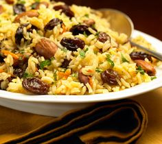 Pilaf - This rice side dish is tastily accented with nuts, dried fruit and vegetables.