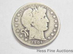 1904 O United States Barber Silver Half Dollar Coin