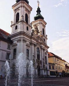 I  this city  #church #funtain #water #vcso #vscocam #graz #austria #city #cityscape