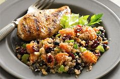 Quinoa-Black Bean Salad with Ruby-Cranberry Dressing:Try this tasty recipe from Ocean Spray.